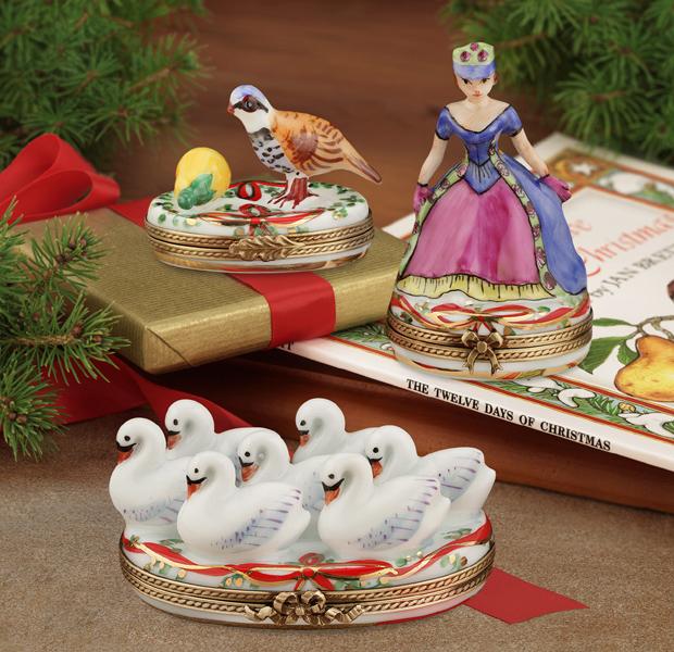 Limoges Twelve Days of Christmas Boxes | Limoges Marquise de Pompadour